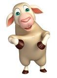 funny Sheep  cartoon character Royalty Free Stock Photography