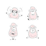 Funny sheep character design Stock Image