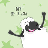 Funny Sheep for Eid-Al-Adha Celebration. Royalty Free Stock Image