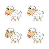 A funny sheep expressing different emotions Stock Image