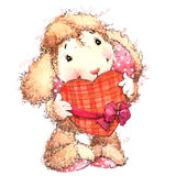 Funny sheep. Kid background for greetings cards. watercolor illustration Royalty Free Stock Photo