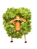 Funny sheep made of vegetables Royalty Free Stock Photo