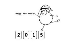Funny sheep, new year. Vector illustration, funny sheep, new year Royalty Free Stock Photos