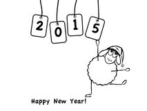 Funny sheep, new year. Vector illustration, funny sheep, new year Stock Photography
