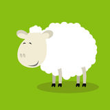 Funny sheep. Vector illustration of funny sheep symbol of 2015 Stock Photo