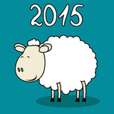 Funny sheep. Vector illustration of funny sheep symbol of 2015 Royalty Free Stock Images