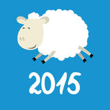 Funny sheep. Vector illustration of funny sheep symbol of 2015 Royalty Free Stock Photo