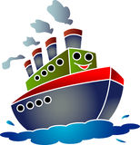 Funny ship cartoon Stock Photos