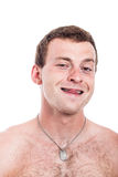 Funny shirtless man Stock Photos