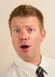 Funny shocked man Stock Image