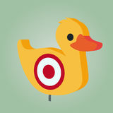 Funny shooting duck illustration Stock Photos