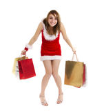 Funny shopper woman Stock Photos
