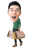 Funny shopping Asian guy Stock Photo