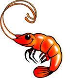 Funny shrimp. Cartoon Funny shrimp on white background Stock Photography