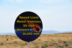 Funny sign at Meteor Crater Stock Image