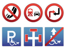Funny signs 2. It's a six traffic signs Royalty Free Stock Images