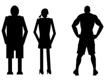 funny silhouette Royalty Free Stock Photo