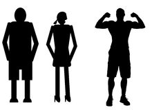 funny silhouette Royalty Free Stock Images