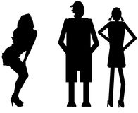 Funny silhouette Stock Image