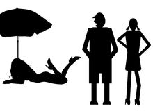 Funny silhouette Stock Images