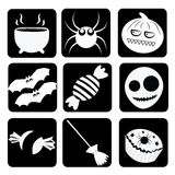 Funny sillhouettes for halloween Stock Images