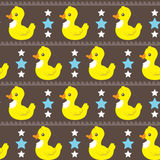 Funny simple ducks pattern . Stock Photo
