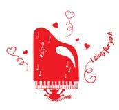Funny singing cat. Vector illustration - gay love playing cat serenade stock illustration