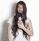 Funny sister laughing Royalty Free Stock Photography