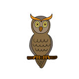 Funny sitting owl Stock Photos