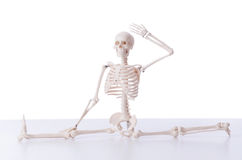 The funny skeleton isolated on white Royalty Free Stock Photo