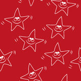 Funny sketching star Seamless pattern. Baby star Stock Photography