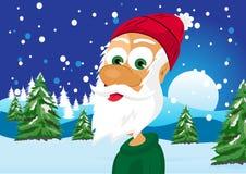 Funny skinny santa claus Royalty Free Stock Photography