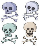 Funny skull Stock Images