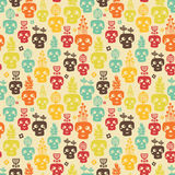 Funny skull seamless. Royalty Free Stock Photo
