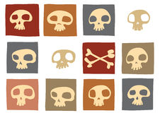 Funny skulls Stock Photo