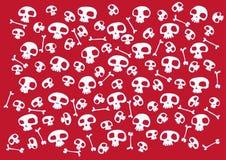 Funny skulls vector illustration