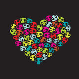 Funny Skulls Royalty Free Stock Images