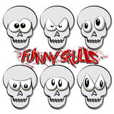 Funny Skulls Stock Images
