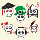 Funny skulls, smiles Royalty Free Stock Photography