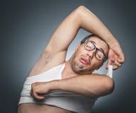 Funny sleepy tired man Royalty Free Stock Photo