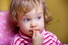 Funny sly baby Stock Photos