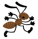 Funny small ant. Children illustration Stock Photo