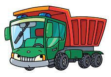 Funny small dump truck with eyes Stock Photo