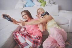 Funny small pajama party Stock Photos