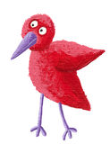 Funny small red bird Stock Photography