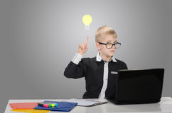 Funny smart boy Royalty Free Stock Photo