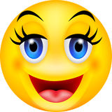 Funny smile emoticon stock illustration