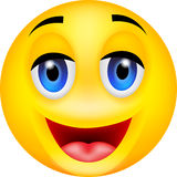 Funny smile emoticon royalty free illustration