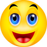 Funny smile emoticon Royalty Free Stock Image