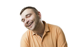 Funny smile pleasure man Stock Photo